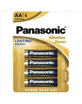 PANASONIC ALKALINE POWER AA PACK (X4)