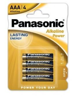 PANASONIC ALKALINE POWER AAA PACK (X4)