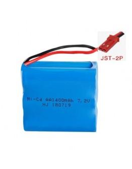 Bateria Ni-CD 7.2V 1400mAh (Ficha JST)