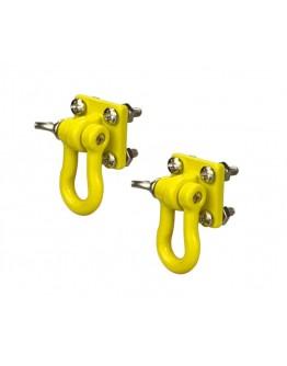 METAL BUMPER SHACKLES & MOUNTING BRACKET Yellow (2PCS)