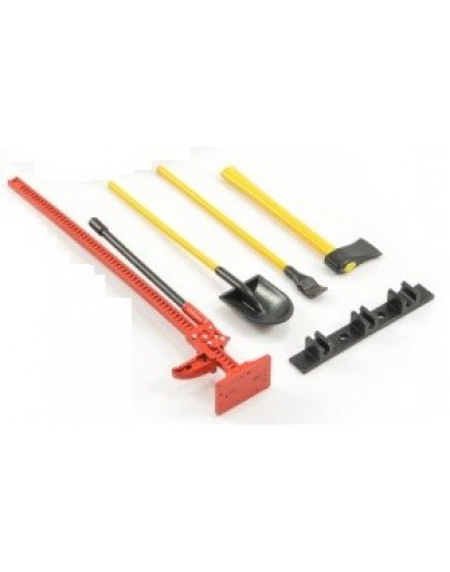 SCALE 4-PIECE TOOL SET RED/YELLOW PAINTED