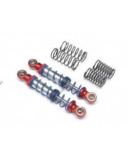 Team Raffee Co. Aluminum Double Spring Shocks 70mm (2) for Crawlers Red